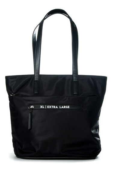 Tote Mujer Xl Extra Large Jazmin Negro