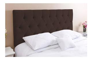 Cabeceira de cama Kasabela Paris Casal 140cm x 58cm Eco-couro marrom