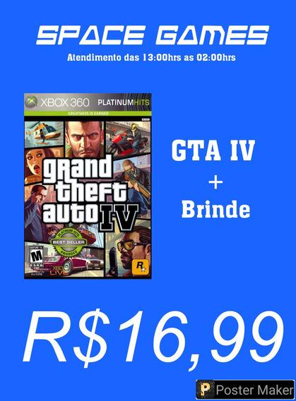 Gta Iv - Xbox 360 - Mídia Digital