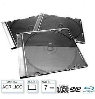 Cajas Finas Slim Acrilicas, Plasticas Para Cd/dvd, X 50
