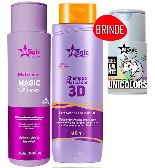 Kit Magic Color Shampoo 500ml + Máscara Efeito Pérola 500ml