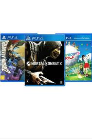 Kit Combo 3 Jogos Ps4 Mortal Kombat X + Golf + Gravityrush