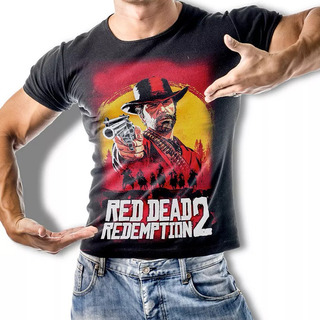 Camiseta Red Dead Redemption 2 Arthur Morgan Stamp For All