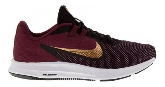 Tênis Esportivo Nike Downshifter 9 Bordo Roxo Aq7486