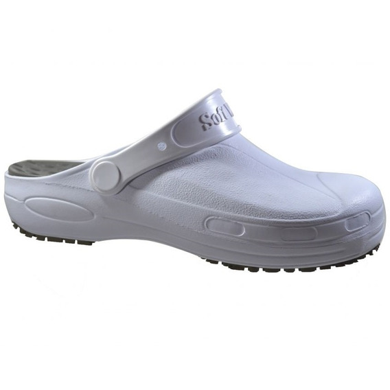 Sapato Babuche Profissional Branco Nº 39-40 Bb60 Soft Works