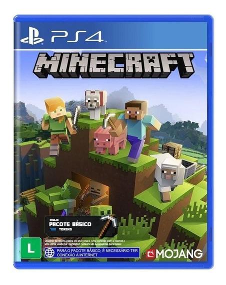 Jogo Ps4 Minecraft - Inclui Pacote Básico - Novo - Lacrado