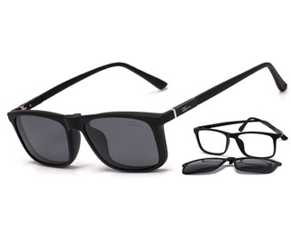 Armação Óculos Grau E Solar Clip On Ogrife 937-c Proteção Uv