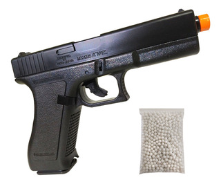 Kit Pistola Airsoft K17 Kwc Full Abs 6mm 230fps + 1000 Bbs