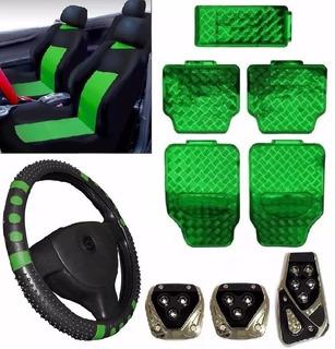 Kit Verde Capa Banco Carro+tapete+vo+pedal Honda Civic 98 99
