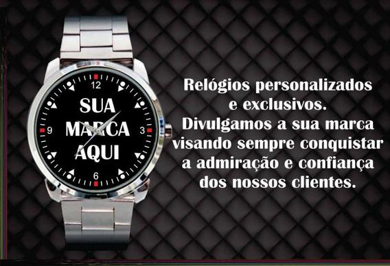 2 Relógios De Pulso Personalizados Masculino E Feminino Logo