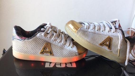 Zapatillas Con Luz Led Carga Usb