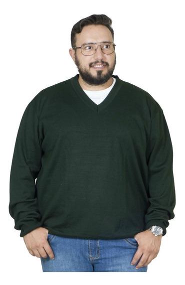 Malha Plus Size Bigshirts Gola V - Verde Musgo