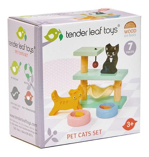 Imagen 1 de 3 de Mesa De Juegos Tender Leaf Toys Para Gatos 7 Pcs Madera Febo