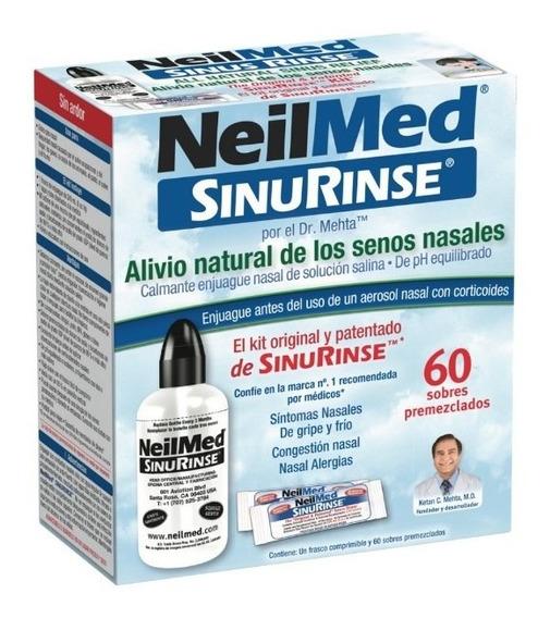 Lavador Nasal Neilmed Kit C/60 Sobres Y Botella.