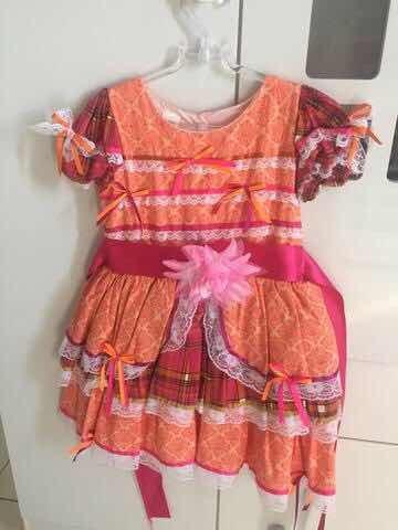 Vestido Infantil (2-3 Anos) Para Festas Juninas