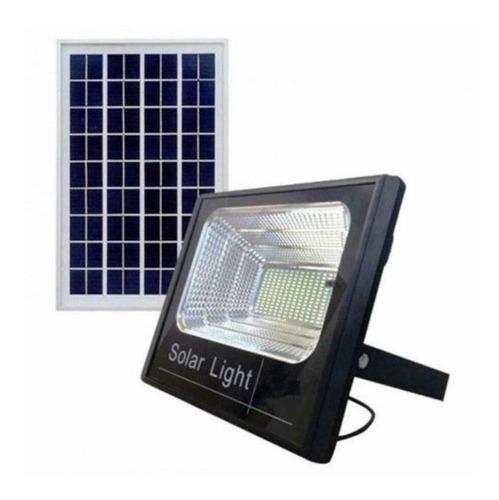 Foco Iluminacio Solar Led 60w + Panel Solar + Control Pack3