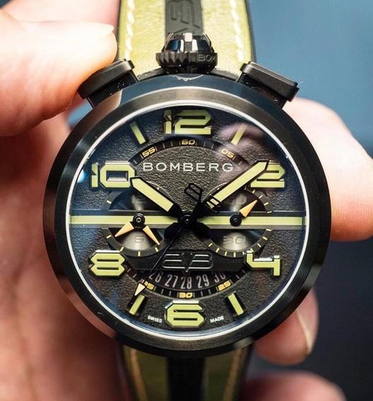 Reloj Bomberg 1968 Rs45chpba Doble Correa