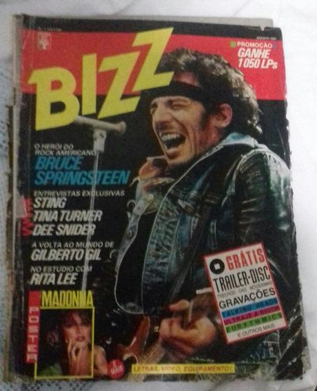 Revista Bizz Nº1 Bruce Springsteen Agosto 85 De Colecionador
