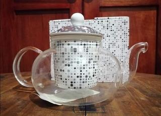 Infusor De Té / Cristal Y Porcelana