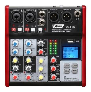 Consola De Sonido 4 Canales Bluetooth Mp3 Fx Grabación