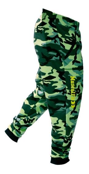 Chupin Camuflado Con Puño Corte Pantalon Camuflado Rustico