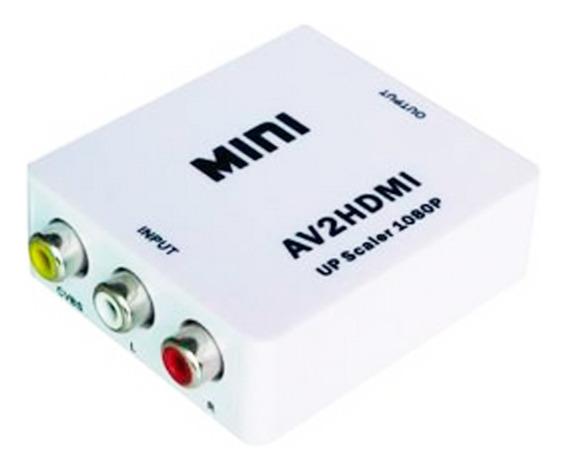 Conversor Adaptador De Rca A Hdmi Audio Vídeo Cvbs