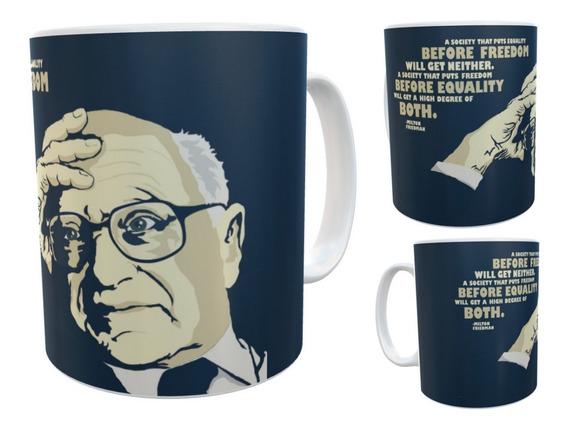 Milton Friedman Cafe Libertario Taza Ceramica