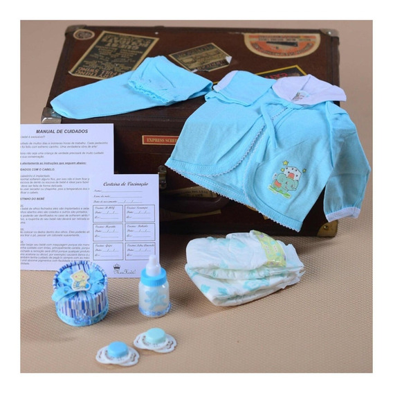 9 Acessórios Enxoval Roupa Menino Bebê Reborn