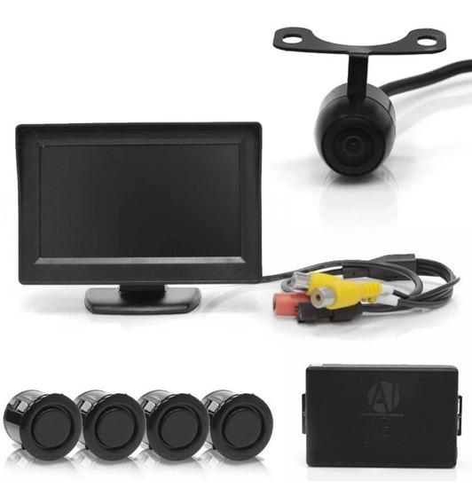Kit Para Ônibus, Camera De Ré + Sensor + Tela Lcd Original