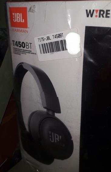 Fone De Ouvido Sem Fio Jbl T450 Bt Preto Bluetooth Original