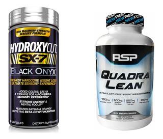 Hydroxycut Sx-7 Black Muscletech + Quadralean Rps Importado