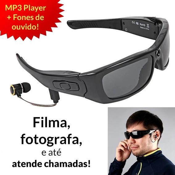 Óculos De Sol Digital (foto, Vídeo, Headset, Bluetooth, Mp3)