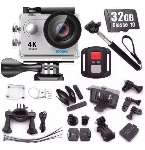 Câmera Eken H9r Controle Bike 4k Wifi + Cartão 32gb + Bastão