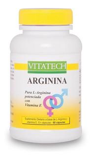 Arginina Vita Tech X 60 Capsulas Suplemento Dietario