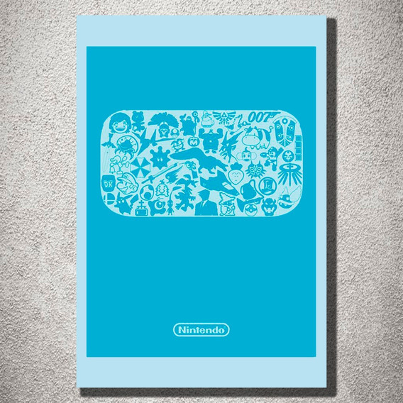 Placa Decorativa Nintendo Games Decoração Mdf