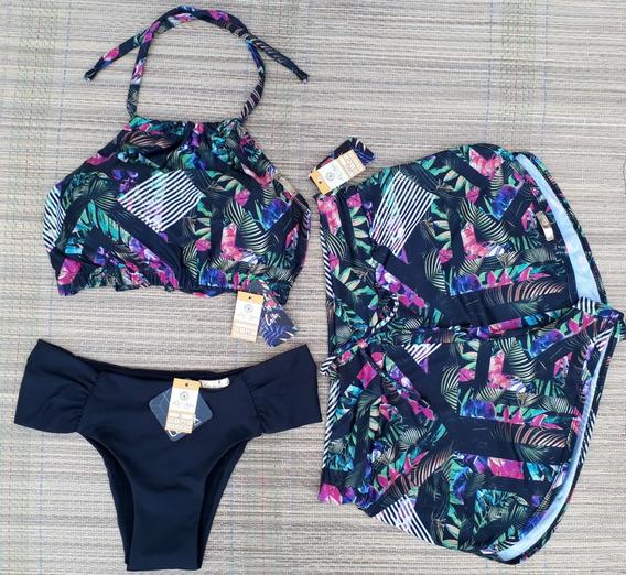 Kit Biquini Top Cropped+calcinha+shorts +2sunga Pai&filho
