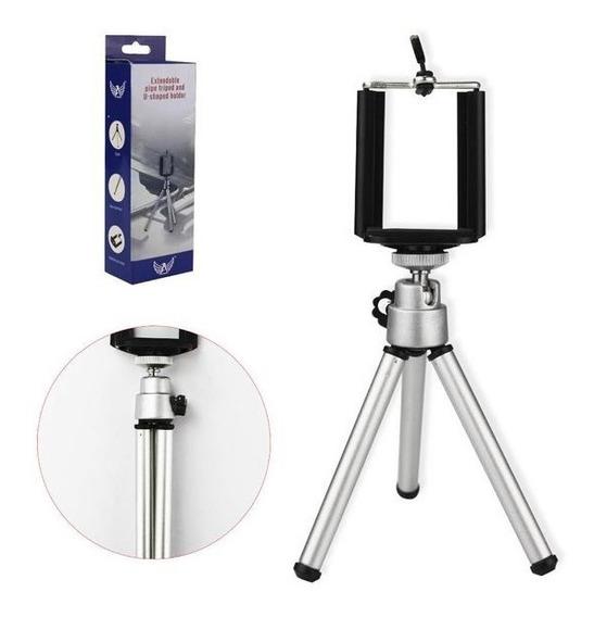 Mini Tripé Universal Com Suporte Para Celular Câmera