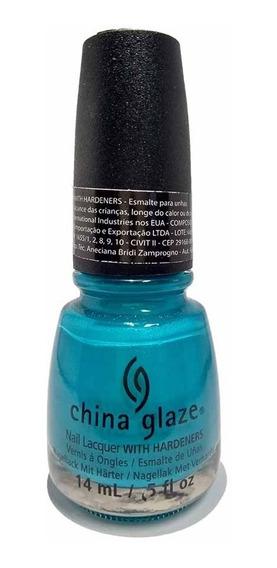 Esmalte Unhas Importado China Glaze Turned Up Turquoise