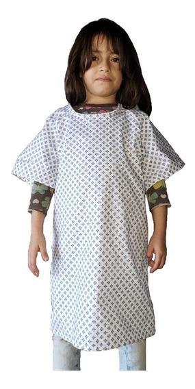 Bata Paciente Pediátrica Unisex (niña Y Niño) De Tela
