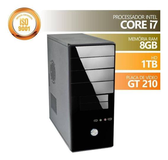 Computador Corporate Intel Core I7 Turbo Boost 3.60ghz 8mb Cache Memória 8gb Dd3 Hd 1tb Placa De Vídeo 1gb Gt210 Hdmi