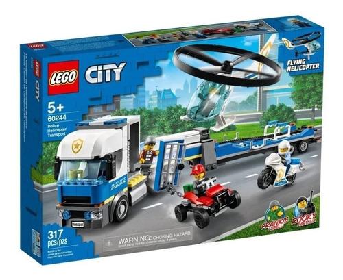 Imagen 1 de 2 de Lego® City - Camión De Transporte Del Helicóptero (60244)