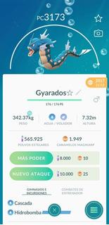 Gyarados Pokemon Go Por Intercambio +3000pc