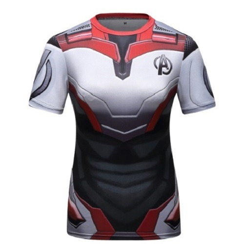 Camisa Vingadores Ultimato Camiseta Feminina Blusa Compressão Rashguard Reino Quântico Manga Curta