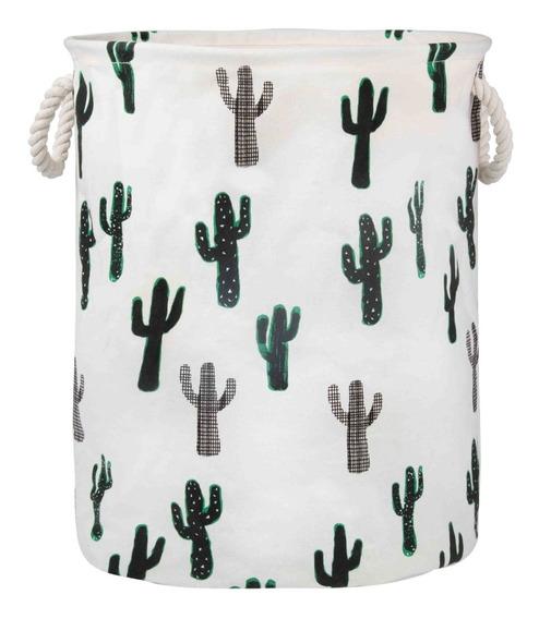 Cesto Organizador Infantil Roupa Objeto Brinquedo 60l Cactus