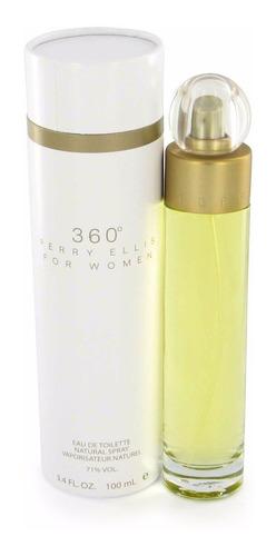 Perfume 360 De Perry Ellis De 100ml Para Mujer Original