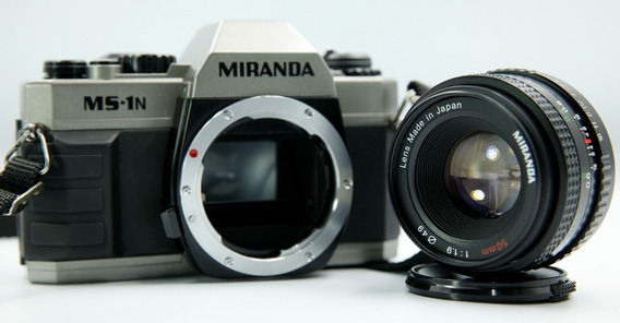 Câmera Analógica Miranda Ms-1n + Lente Miranda 50mm 1.9
