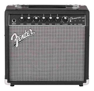 Amplificador Fender Champion Series 20 Transistor 20W negro y plata 220V