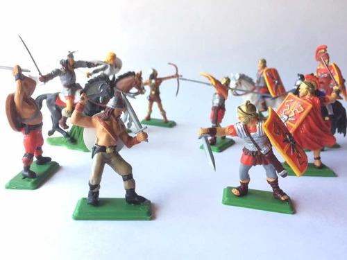 Soldados Romanos Y Vikingos 3 Soldaditos De Plástico