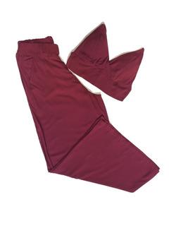 Conjunto Calça Pantalona E Cropped Curto Decote V Elegante