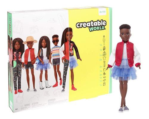 Creatable World Barbie Mattel Negro Dc-725 Fashion
